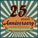 25 years anniversary — Stock Vector #59448131