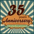 35 years anniversary — Stock Vector #59448267