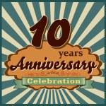 10 years anniversary — Stock Vector #59448491