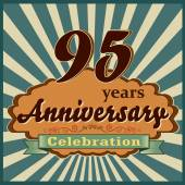 95 years anniversary — Stock Vector