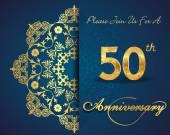50 rocznica — Wektor stockowy