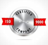 ISO 9000 certified — Stock Vector
