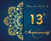 13-letnia rocznica — Wektor stockowy