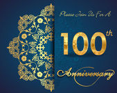 100 year anniversary — Stockvektor