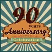 90 years anniversary — Stock Vector