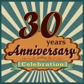 30 years anniversary — Stock Vector
