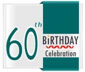 60 year Happy Birthday Card — Stock Vector