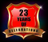 23 years anniversary — Stock Vector