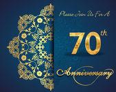 70 year anniversary — Stockvektor