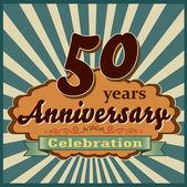 50 years anniversary — Stock Vector