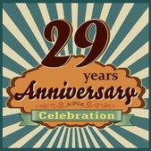 29 years anniversary — Stock Vector