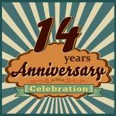 14 years anniversary — Stock Vector