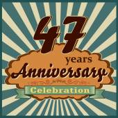 47 years anniversary — Stock Vector