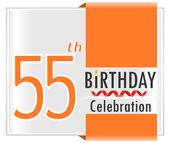 55 year Happy Birthday Card — Stock Vector