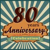 80 years anniversary — Stock Vector