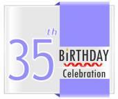 35 year Happy Birthday Card — Stock Vector