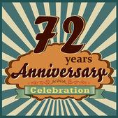 72 years anniversary — Stock Vector