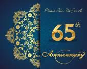 65 rocznica — Wektor stockowy
