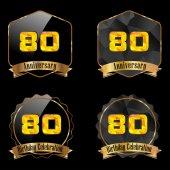 80 year birthday celebration — Stock Vector