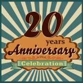20 years anniversary — Stock Vector