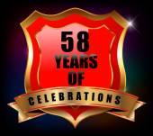 58 years anniversary — Stock Vector