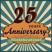 25 years anniversary — Stock Vector