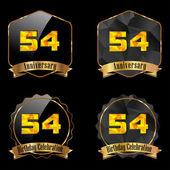 54 year birthday celebration — Stock Vector