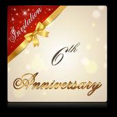 6 year anniversary celebration — Stock Vector