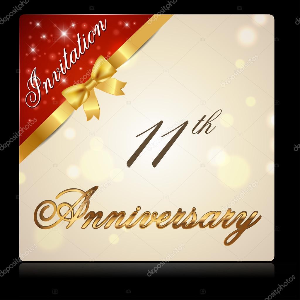 11 year anniversary celebration — Stock Vector ...