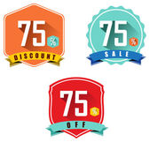Set of 75 sale and discount — Stock Vector