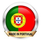 Hergestellt in portugal silber-abzeichen — Stockvektor