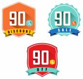 Set of 90 sale and discount — Stock Vector