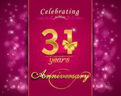 31 year anniversary celebration sparkle design — Stock Vector