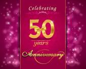 50 year anniversary celebration sparkling card — Stock Vector