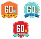 Set of 60 sale and discount — Stock Vector