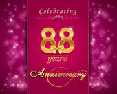88 year anniversary celebration sparkling card — Stock Vector