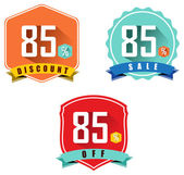 Set of 85 sale and discount — Stock Vector