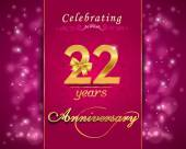 22 year anniversary celebration sparkling card — Cтоковый вектор