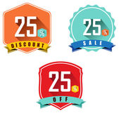 Set of 25 sale and discount — Stock Vector