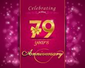 79 year anniversary celebration sparkling card — Stock Vector