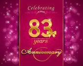 83 year anniversary celebration sparkling card — Vector de stock