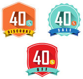 Set of 40 sale and discount — Stock Vector