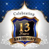 Celebrating 13 years anniversary — Stock Vector