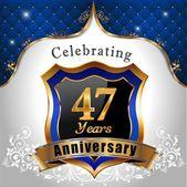Celebrating 47 years anniversary — Stock Vector