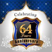 Celebrating 64 years anniversary — Stock Vector
