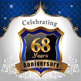 Celebrating 68 years anniversary — Stock Vector