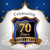 Celebrating 70 years anniversary — Stock Vector
