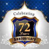 Celebrating 72 years anniversary — Stock Vector