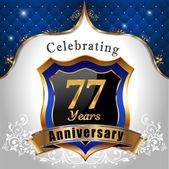 Celebrating 77 years anniversary — Cтоковый вектор