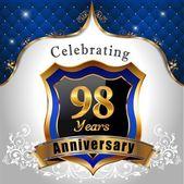 Celebrating 98 years anniversary — Stock Vector